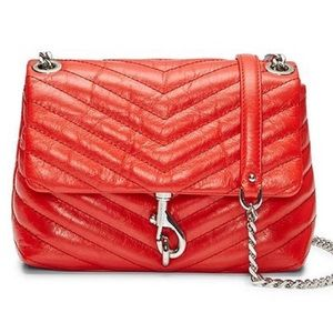 Rebecca Minkoff Edie Bag Red Quilted Cross Body